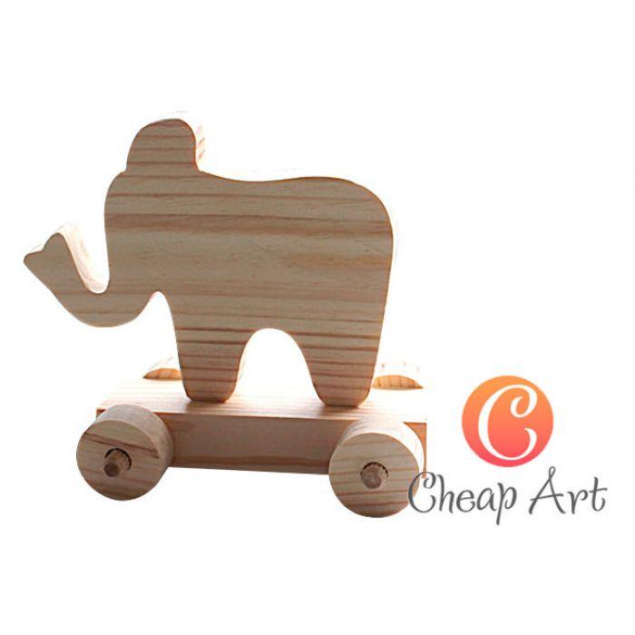 """Игрушка из дерева """"Слоненок""""  для скрапбукинга"""