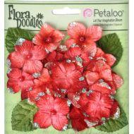 Набор цветов Бархатные Гортензии красные