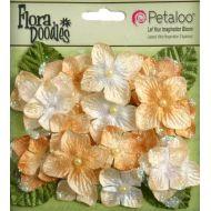 Набор цветов Бархатные Гортензии бежевые