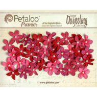 Набор цветов Маленькие ромашки с жемчужиной красные