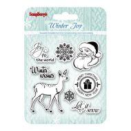 Набор штампов Зимнее утро. Рождественский олень, анг.