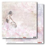 Бумага розовый мираж из коллекции цветные сны