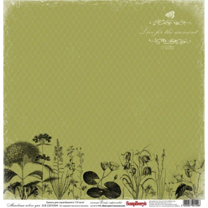 Бумага Мгновения нового дня, коллекция Ветер странствий для скрапбукинга