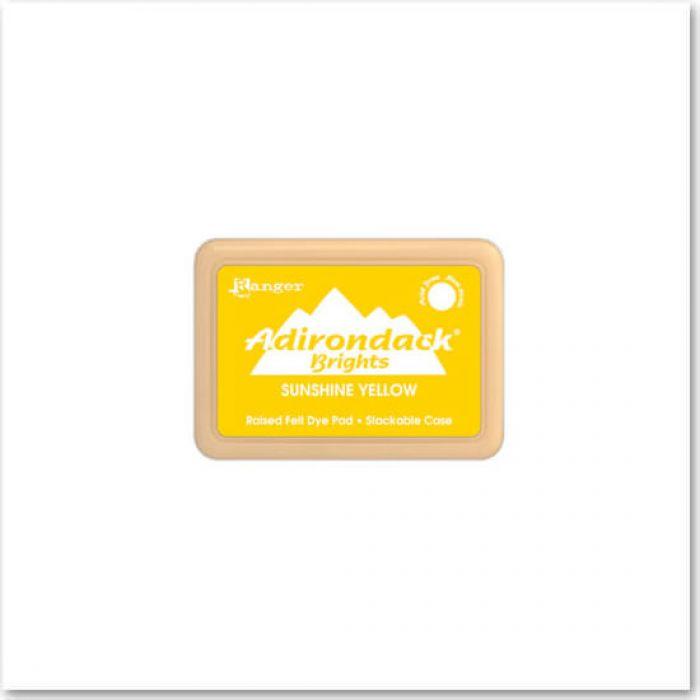 Чернила Adirondack® Dye Ink, цвет Sunshine Yellow, Ranger Ink для скрапбукинга