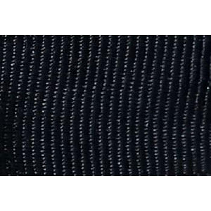 Лента репсовая черная для скрапбукинга