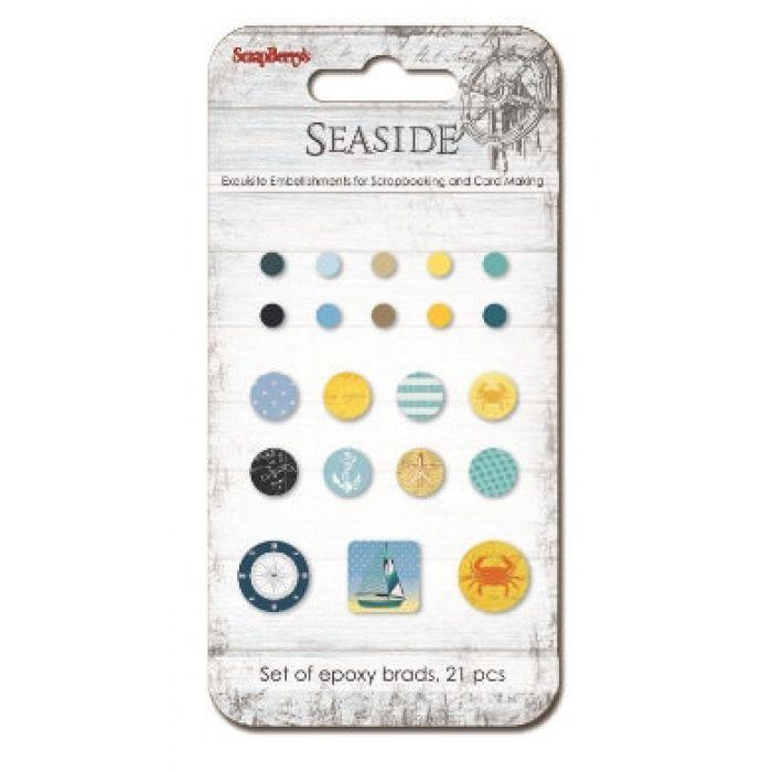 Набор брадсов, коллекция Там где Море 21 шт для скрапбукинга