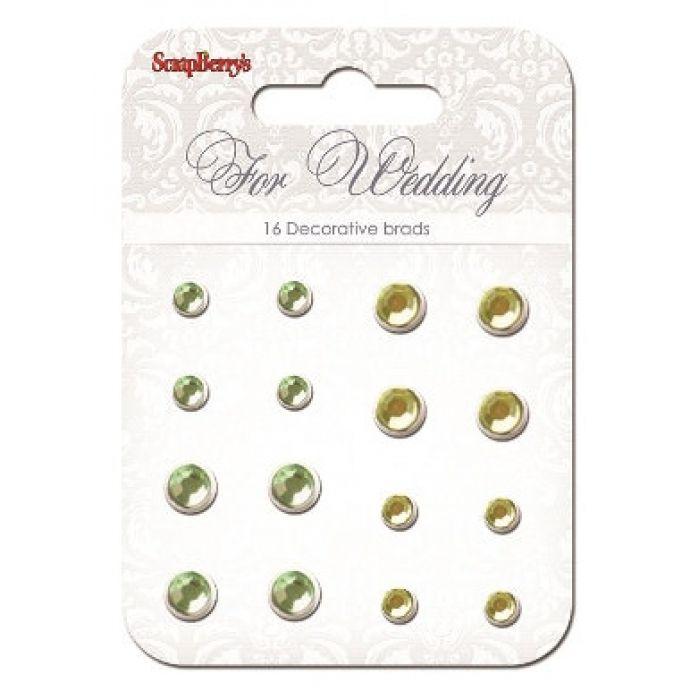 Набор хрустальных брадсов Свадьба 2 для скрапбукинга