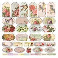 Бумага Карточки, коллекция Французское Путешествие
