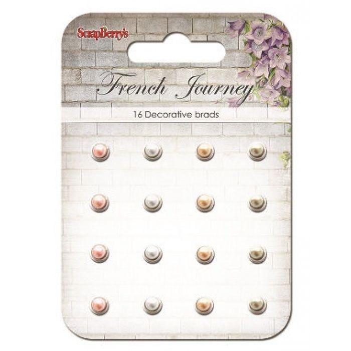Набор жемчужных брадсов Французское путешествие для скрапбукинга
