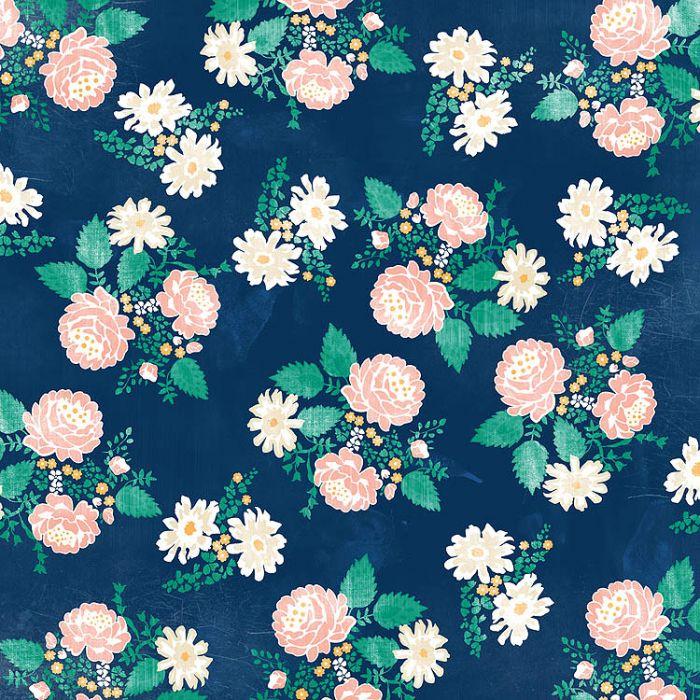 Бумага Hello Floral из коллекции Hello Again для скрапбукинга