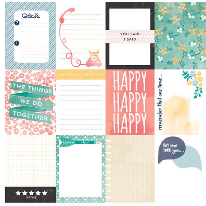 Бумага Journaling из коллекции Hello Again для скрапбукинга