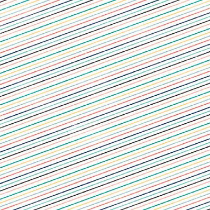 Бумага Stripes, коллекция Hello Again для скрапбукинга