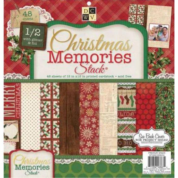 Набор бумаги Christmas Memories, 30*30 см  для скрапбукинга