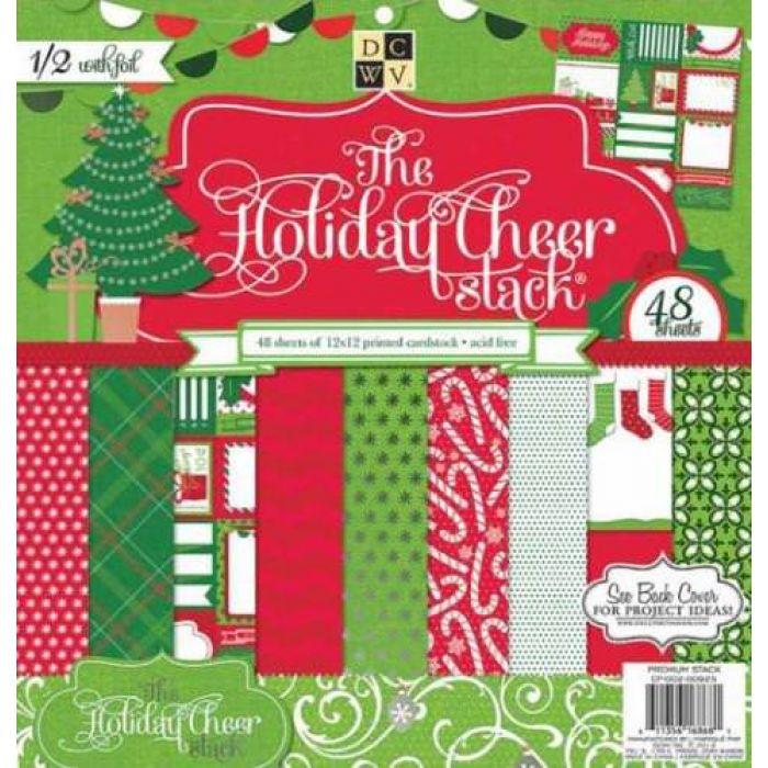 Набор бумаги Holiday Cheer, 30*30 см  для скрапбукинга