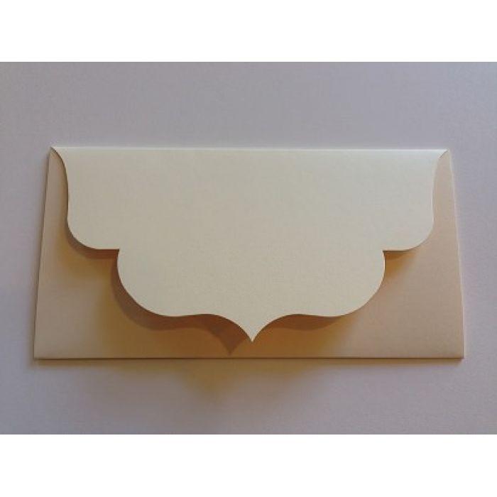 Основа для подарочного конверта кремовая для скрапбукинга