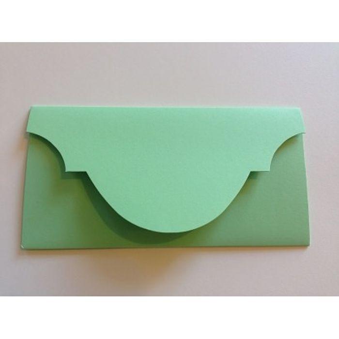 Основа для подарочного конверта светло-зелёная для скрапбукинга