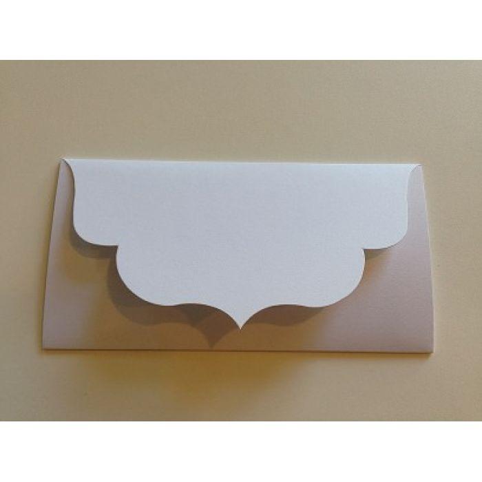Основа для подарочного конверта №3 белая матовая для скрапбукинга