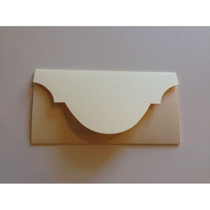 Основа для подарочного конверта №5 кремовая матовая для скрапбукинга