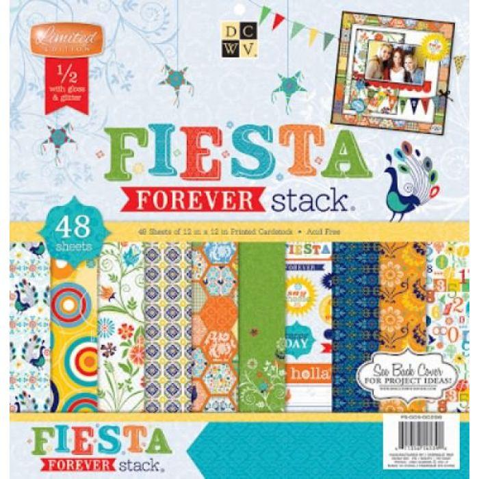 Набор бумаги Fiesta Forever, 30*30 см  для скрапбукинга
