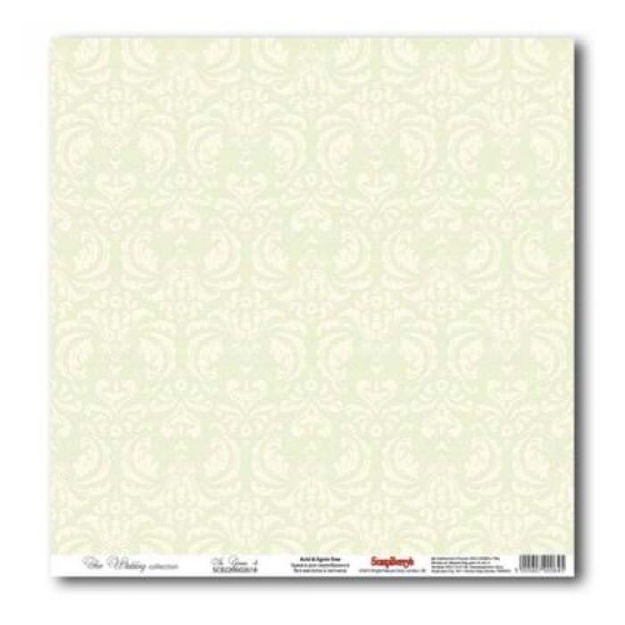 Бумага Нежно-зеленый 4, коллекция Свадебная  для скрапбукинга