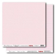 Бумага Шеврон и клетка Розовый, коллекция Clean&Simple