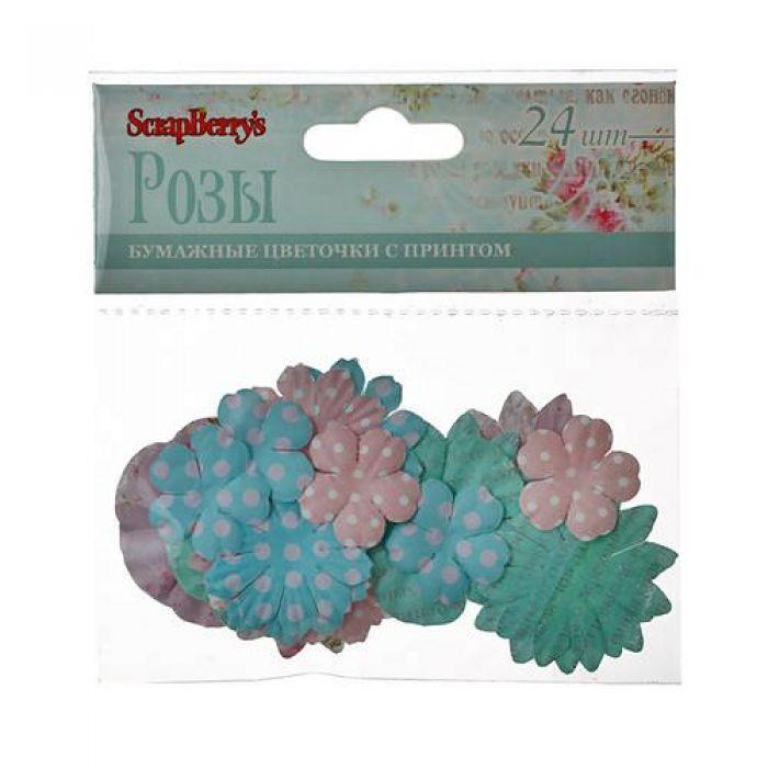 Набор бумажных цветочков РОЗЫ для скрапбукинга