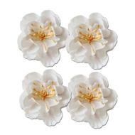 Набор декоративных цветков, белые, 5см
