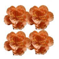 Набор декоративных цветков, нежно-персиковый, 5см