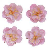 Набор декоративных цветков, нежно-розовый, 5см