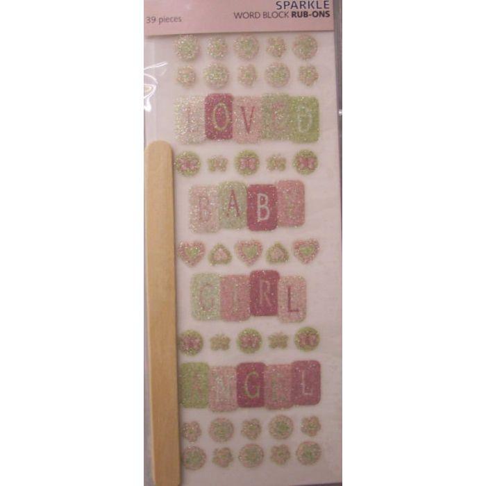 Набор натирок, коллекция Baby Girl для скрапбукинга