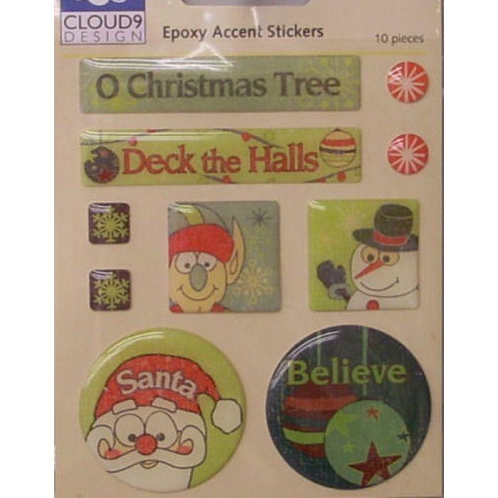 Набор объёмных наклеек, коллекция Christmas Is... для скрапбукинга