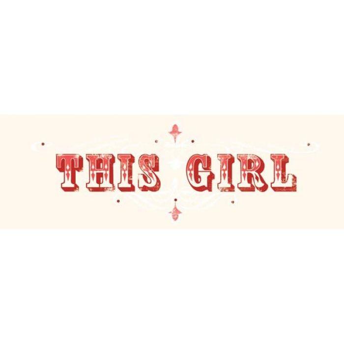 """Натирка """"This Girl"""" для скрапбукинга"""