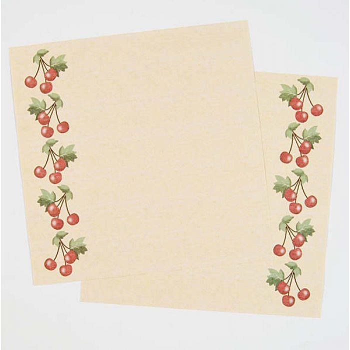 "Набор бумаги  ""Yellow Cherries Borders"" для скрапбукинга"
