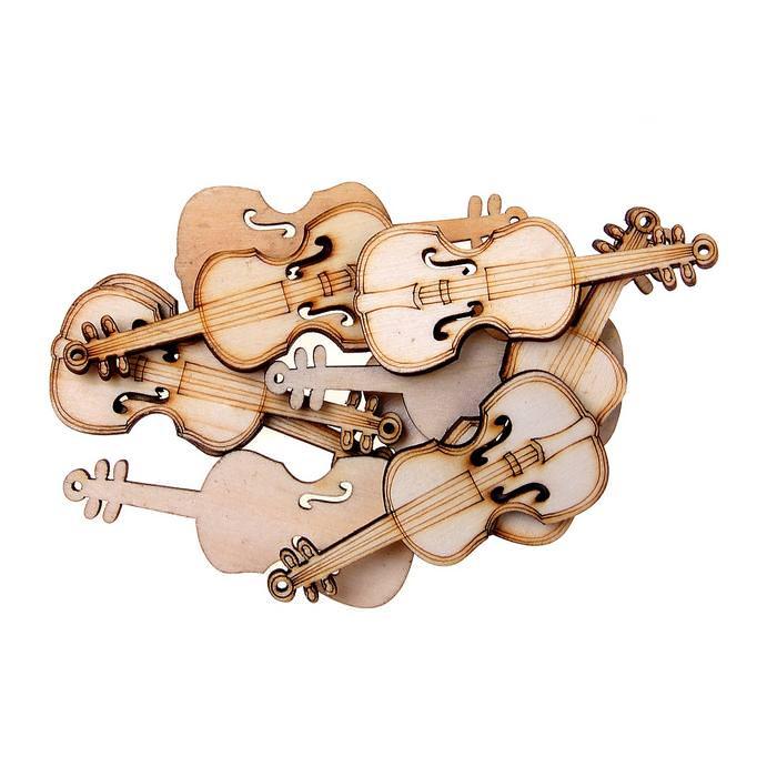 Скрипка, 2,7 х 6,3 см для скрапбукинга