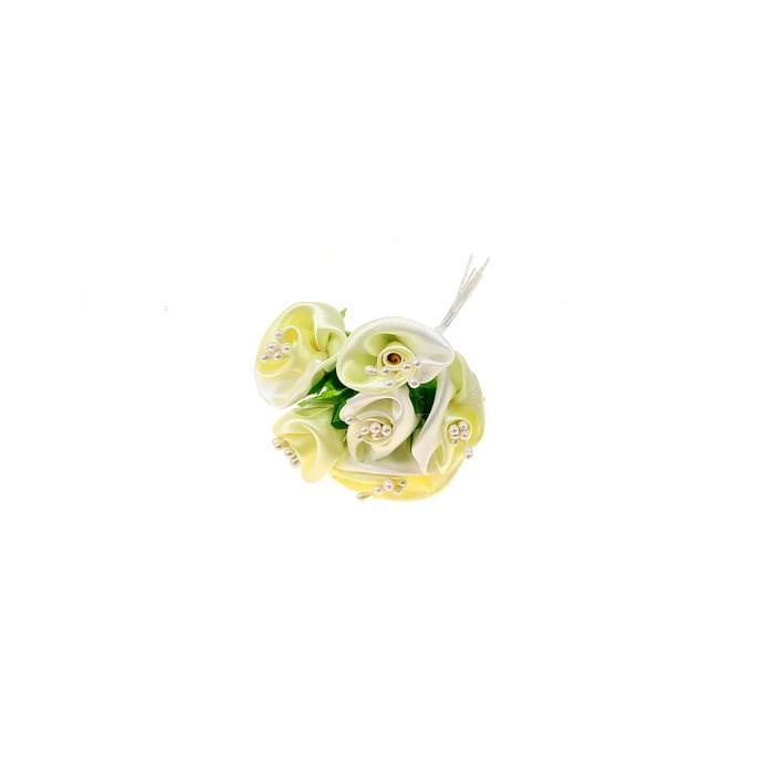 Нежный цветок бело-желтый для скрапбукинга