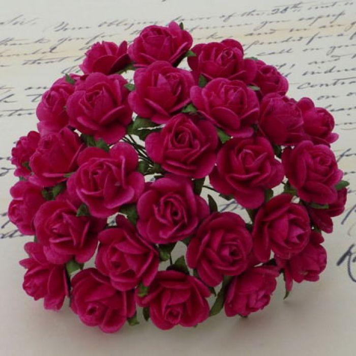 Розы цвета фуксии, 25 мм для скрапбукинга