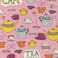 Ткань ретро, коллекция чай и кофе