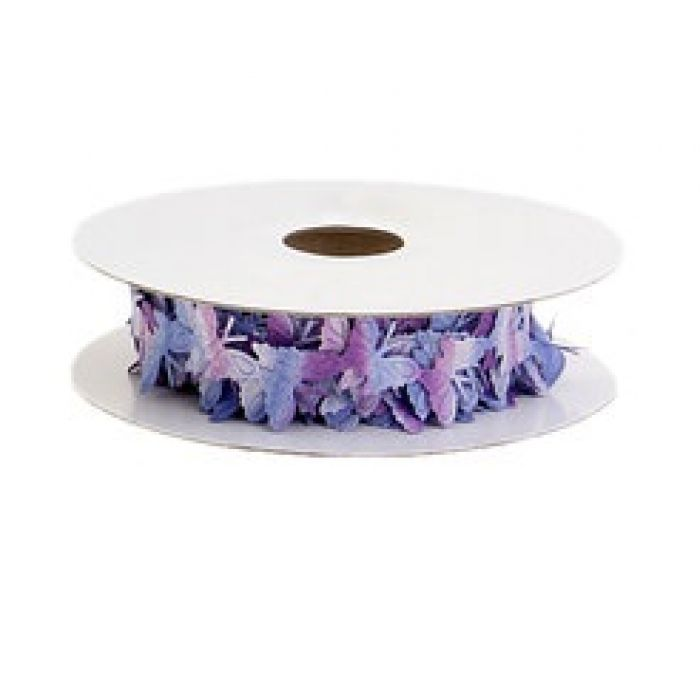 Лента Порхающие бабочки сине-фиолетовые для скрапбукинга