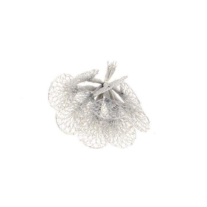 Листик-сетка серебряный для скрапбукинга