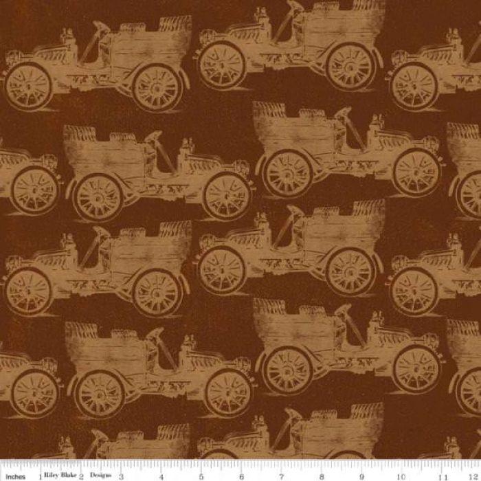 Отрез ткани Машины, коллекция Дом бабушки для скрапбукинга