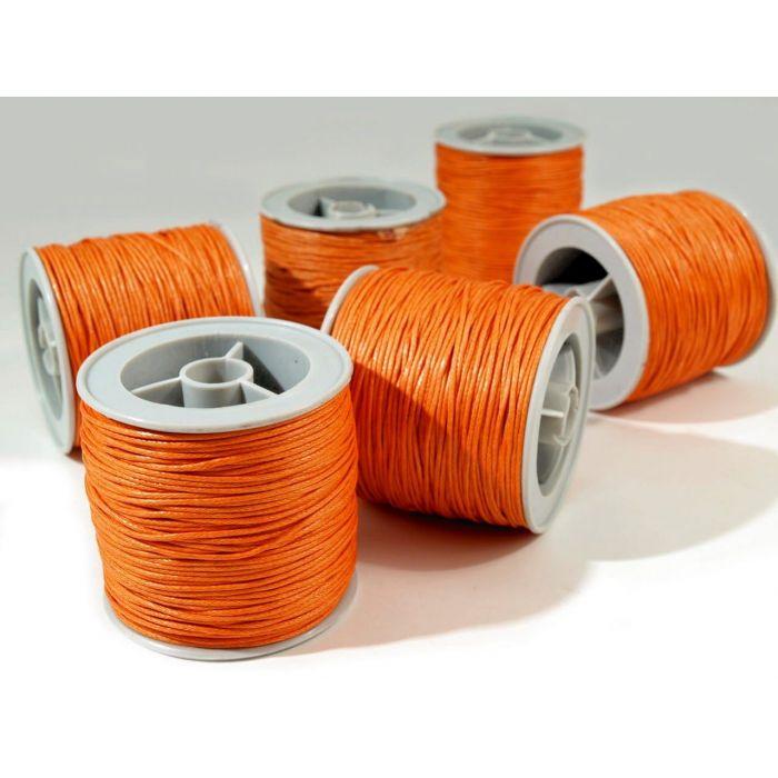 Оранжевый вощёный шнур для скрапбукинга