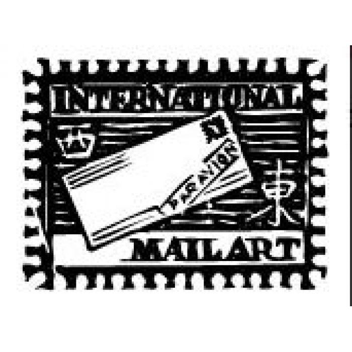 Штамп интернациональная почта для скрапбукинга
