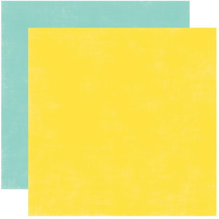 Бумага, коллекция  Splash, SOLID YELLOW/TEAL для скрапбукинга