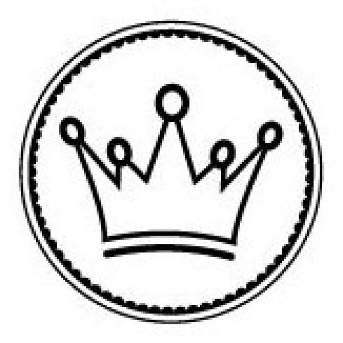 Штамп корона принца для скрапбукинга