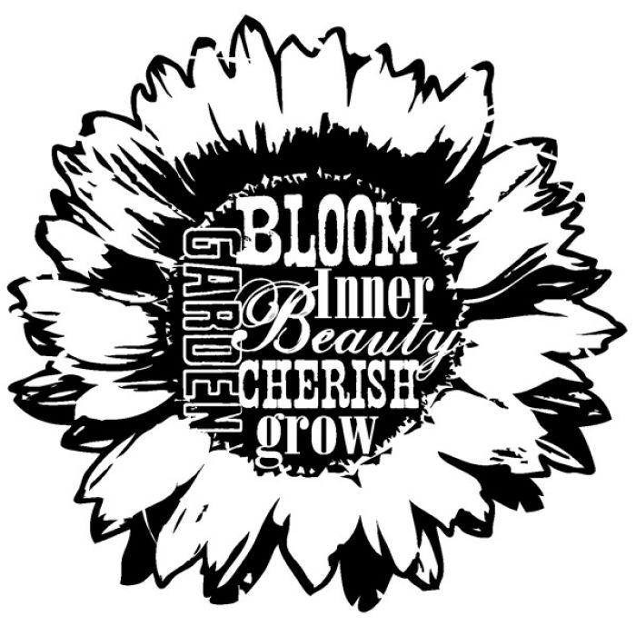 Штамп flower для скрапбукинга