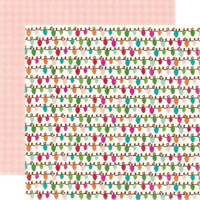 Бумага, коллекция  Holly Jolly, MERRY & BRIGHT для скрапбукинга