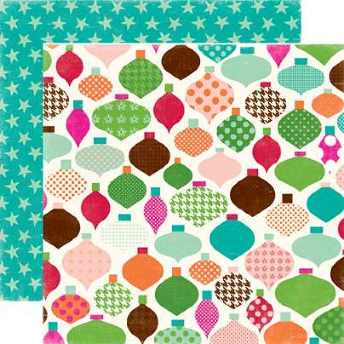 Бумага DASH AWAY, коллекция  Holly Jolly для скрапбукинга