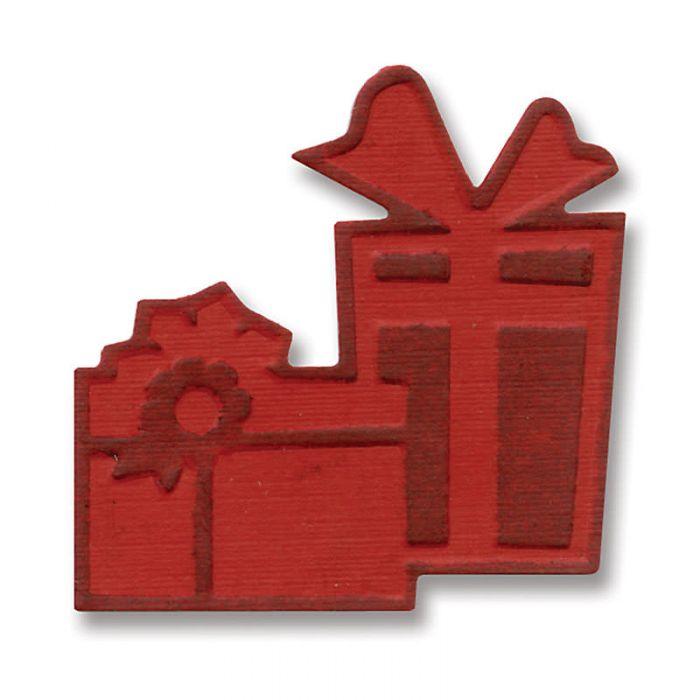 Форма для вырубки и эмбоссирования подарки #2 для скрапбукинга
