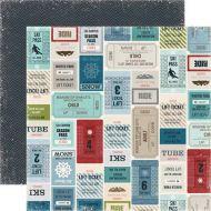 Бумага, коллекция  Winter Park , Lift Tickets