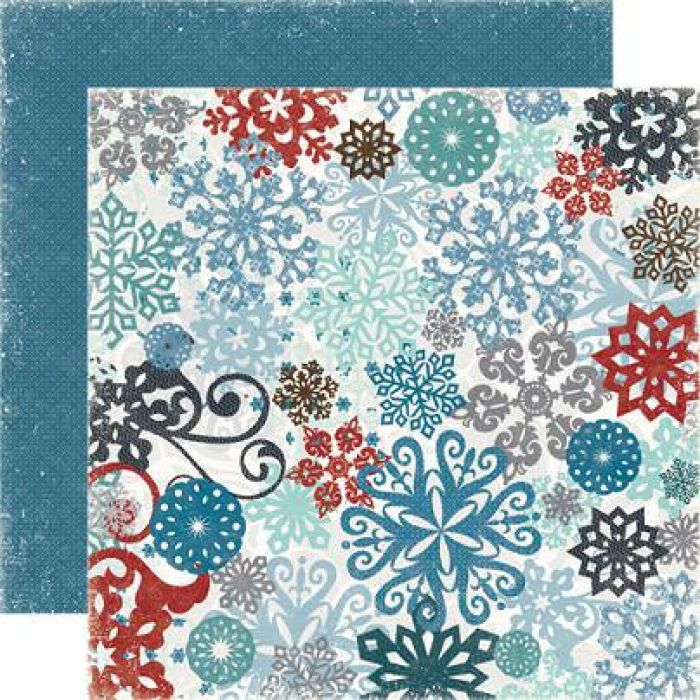 Бумага, коллекция  Winter Park , Snow Storm для скрапбукинга